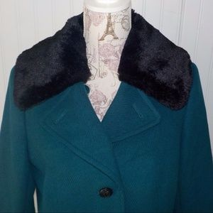 TALBOTS Thinsulate removable collar coat NEW 10